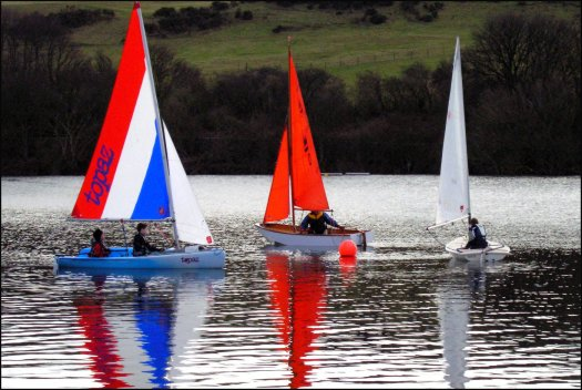 Pictured (from left) are a Topaz, Mirror and Laser 4.7 on Kinghorn Loch