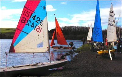 Boats ready for action beside Kinghorn Loch.